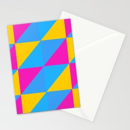 Pansexual Pride Split Square Alternating Triangle Pattern Stationery Cards