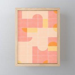 Retro Tiles 02 #society6 #pattern Framed Mini Art Print