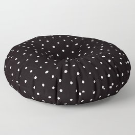 Minimal- Small white polka dots on black - Mix & Match with Simplicty of life Floor Pillow