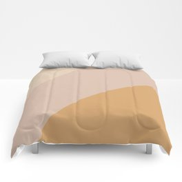 Warm Neutral Color Wave Comforters