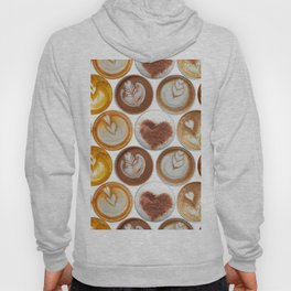 Latte Polka Dots in White Hoody