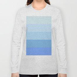 Blue Glass Pastel Stripe Long Sleeve T-shirt