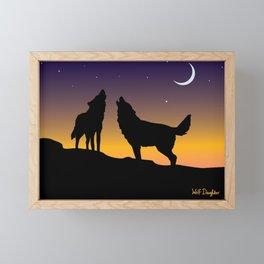 Howl Together Framed Mini Art Print