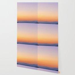 Dreamy Mountain Range | Serene Calm Lavender Orange Daydream Gulf Ombre Sunset California Hills Wallpaper