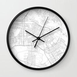 Amsterdam, Netherlands Minimalist Style Map Wall Clock