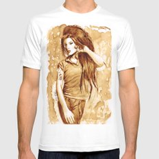 A little Amy in my coffee MEDIUM Mens Fitted Tee White