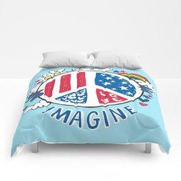 Imagine Love Imagine Peace Comforters