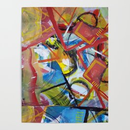 Boundary Line Red Poster