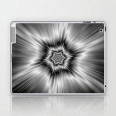 Black and White Star Burst Laptop & iPad Skin