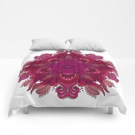 Pink Indian Mandala Comforters
