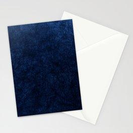 Royal Blue Velvet Texture Stationery Cards