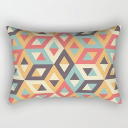Pastel Geometric Pattern Rectangular Pillow