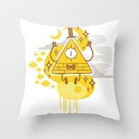 "bill Throw Pillows featuring ""Dreamsphere // Bill"" by Insane-Dorito"