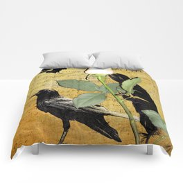 Rustic Crows Journal type Black Birds Modern Country Modern Cottage Chic Art A196 Comforters