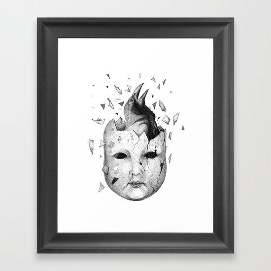 i will take off my old skin  Framed Art Print