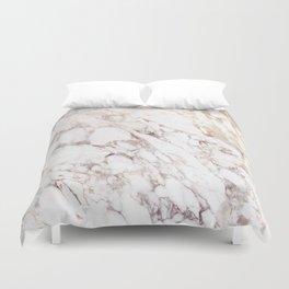 White Onyx Marble Duvet Cover