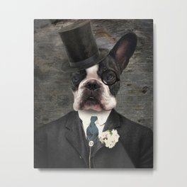 Sir Duncan - Boston Terrier Portrait Metal Print