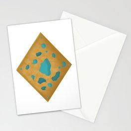 Aqua on wood charm Stationery Cards
