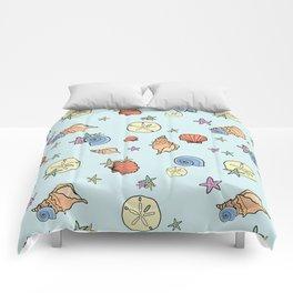pretty sea shells Comforters