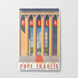 Philadelphia Welcomes Pope Francis Metal Print