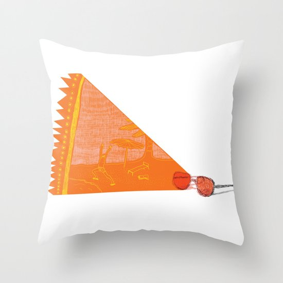 I see summer  Throw Pillow
