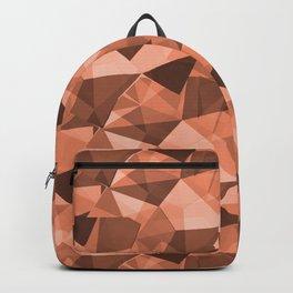 Abstract Geometrical Triangle Patterns 4 Fringe Orange,Orange Slice, Fiery Sky, Heirloom Tomato Backpack