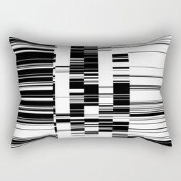 Data Glitch Rectangular Pillow
