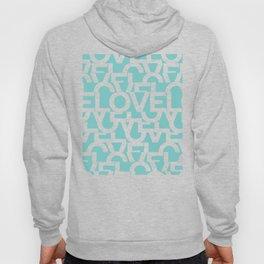 Hidden blue LOVE message Hoody