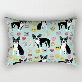boston terrier emoji funny dog gifts emojis Rectangular Pillow