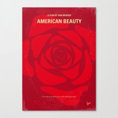 No313 My American Beauty minimal movie poster Canvas Print