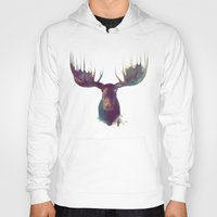 iphone 5 case Hoodies featuring Moose by Amy Hamilton