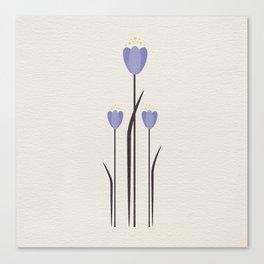 Minimal Bluebells Canvas Print