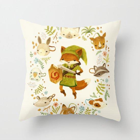 The Legend of Zelda: Mammal's Mask Throw Pillow