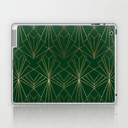 Art Deco in Gold & Green Laptop & iPad Skin