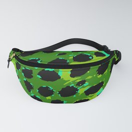 Cheetah Spots in Green and Blue Fanny Pack