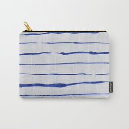 Blue Wiggly Stripes Pattern Carry-All Pouch