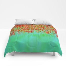 ABSTRACT POPPY  FEILD Comforters