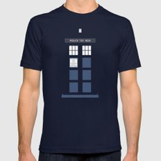 Tardis ( Doctor Who ) Navy 2X-LARGE Mens Fitted Tee