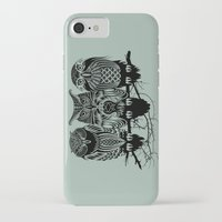 birds iPhone & iPod Cases featuring Owls of the Nile by Rachel Caldwell