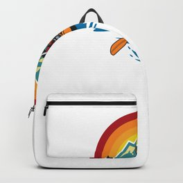 River Water Heals Everything - Kayak - Great Gift for River Lovers - Multi Color Logo & White Lettering Backpack