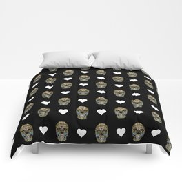Say It with Skull and Hearts Comforters