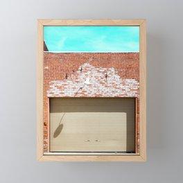 Street photography brick warehouse entrance I Framed Mini Art Print