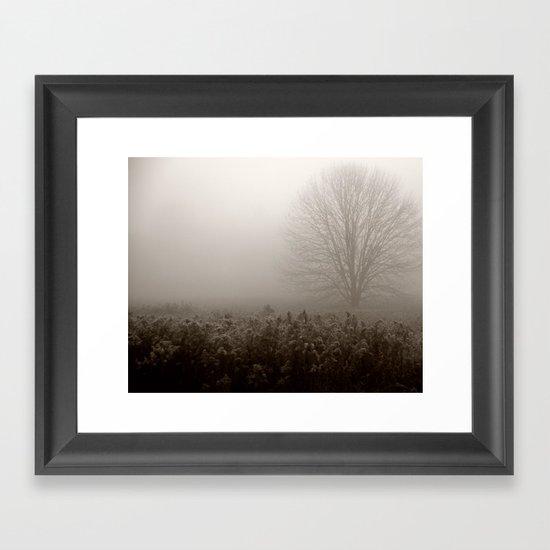 Falls first frost Framed Art Print