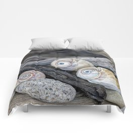Shark's eye shells and driftwood Comforters