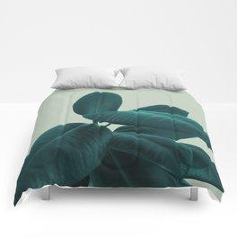 Ficus Elastica #8 #GreenLily #decor #art #society6 Comforters