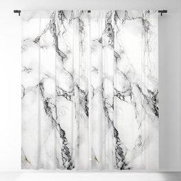 White Marble Texture Blackout Curtain