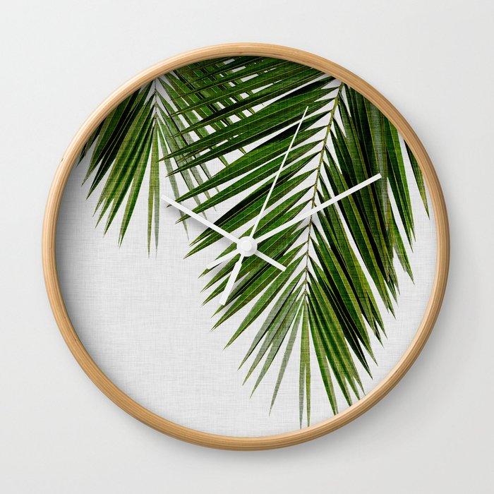 Palm Leaf II Wall Clock