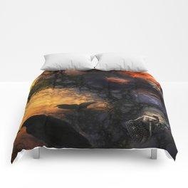 Crow fire Comforters