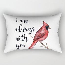 I Am Always With You, Cardinal Rectangular Pillow