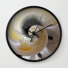 silken whirl abstract 3d digital painting Wall Clock